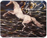 Pegasus, Paintings, Fine Art,Romanticism, Mythical, Oil, By John Power
