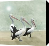 Pelican Beach, Paintings, Expressionism, Nature, Painting, By David Dehner