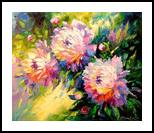 Peonies, Paintings, Expressionism,Fine Art,Impressionism, Botanical,Floral,Nature, Oil,Painting, By Olha   Vyacheslavovna Darchuk