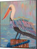 Pete the Pelican, Paintings, Abstract, Animals, Acrylic, By melanie ann lutes