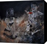 Pierrot Lunaire, Paintings, Impressionism, Erotic, Canvas, By Pol Henry Ledent