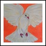 Pigeon, Decorative Arts, Primitive, Animals, Acrylic, By Paula Valeria Fridman