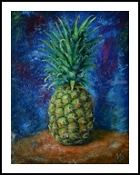 Pineapple. Nikolay Velikiy, Paintings, Abstract,Expressionism, Decorative,Nature,Still Life, Canvas,Oil, By Nikolay Velikiy