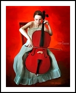 Play music, Paintings, Fine Art, Mythical, Canvas, By Ata Alishahi