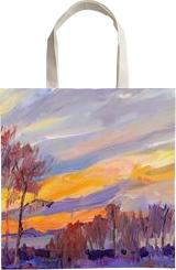 PLEIN AIR 24-02-2017 #2 (SUNDOWN), Paintings, Expressionism,Impressionism, Landscape, Acrylic,Canvas, By Dima Braga