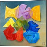 Polygons, Paintings, Abstract,Cubism,Impressionism, Analytical art,Conceptual,Inspirational,Mathematics, Canvas,Oil, By Oleg Bazylewicz