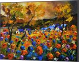 Poppies 108, Paintings, Impressionism, Botanical, Canvas, By Pol Henry Ledent