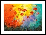 Poppies, Paintings, Impressionism, Botanical,Floral, Canvas,Oil,Painting, By Olha   Vyacheslavovna Darchuk