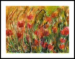 poppies, Drawings / Sketch,Pastel, Fine Art,Impressionism, Botanical,Floral,Nature, Pastel, By Marta Kuźniar
