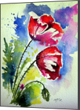 Poppy flowers, Paintings, Impressionism, Floral, Watercolor, By Kovacs Anna Brigitta