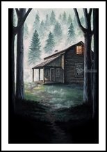 Porter's Hollow, Illustration,Paintings, Fine Art,Realism, Architecture,Landscape,Nature, Acrylic, By Rebecca Suzanne Magar