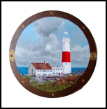 Portland Bill Lighthouse, Paintings, Realism, Seascape, Oil,Painting, By Colleen Lambert