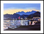 Porto Montenegro(acrylic on canvas), Paintings, Fine Art, Landscape, Acrylic, By Victoria Trok