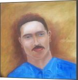 Portrait of my son in law, Paintings, Fine Art,Realism, Portrait, Canvas,Oil, By Mike Chaple