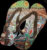 Posie Garden 1, Folk Art, Fine Art, Floral, Acrylic, By KARLA A GERARD