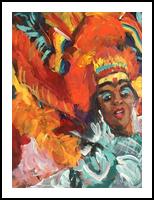 Pride Parade, Paintings, Impressionism, Performance Art, Acrylic, By Susan Elizabeth Jones