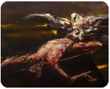 Prometheus, Paintings, Expressionism,Romanticism, Erotic,Figurative,Mythical,Spiritual, Oil,Painting, By John Power