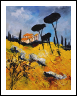 provence 453111, Paintings, Impressionism, Landscape, Canvas, By Pol Henry Ledent