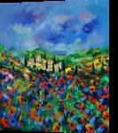 Provence 564150, Paintings, Impressionism, Landscape, Canvas, By Pol Henry Ledent