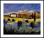 Provence 7645, Paintings, Impressionism, Landscape, Canvas, By Pol Henry Ledent