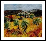 Provence 7841, Paintings, Impressionism, Landscape, Canvas, By Pol Henry Ledent