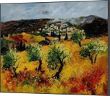 Provence 7841, Paintings, Impressionism, Landscape, Canvas, By Pol Henry Ledent