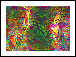 Psychedelic Hearts, Digital Art / Computer Art, Abstract,Hallucinogens,Surrealism, Conceptual,Figurative,People,Portrait, Digital, By Monica Amorim Gutmann