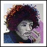 Purple Haze:Portrait of jimi Hendrix, Paintings, Pop Art, People, Acrylic, By Curtis Dickman