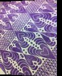 Purple Hearts, Carvings, Commercial Design, Inspirational, Fiber, By Melanie Brummer