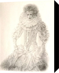 Queen Elizabeth 1st, Paper Art, Fine Art, Portrait, Pencil, By Terence Andrew Walton
