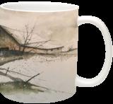 Racoom Creek barn, Paintings, Impressionism, Landscape, Watercolor, By Stephen Keller