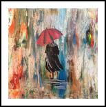 rain, Paintings, Abstract, Figurative, Acrylic,Canvas, By Judith Akli