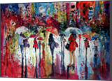 Rain, colours, people III, Paintings, Impressionism, People, Watercolor, By Kovacs Anna Brigitta