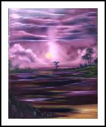 Rainbow beach, Paintings, Fine Art,Romanticism, Landscape, Canvas, By Sulita Xieernayi Kosteyn