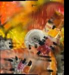 RED, Collage, Abstract, Decorative, Acrylic, By Maria Hristova Koleva