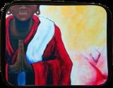 Red Buddha Lotus Spiritual Jackie Carpenter, Paintings, Expressionism, Spiritual, Acrylic, By Jackie Carpenter