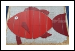 Red Fish, Assemblage, Pop Art, Tropical, Mixed, By Briz Conard