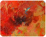 Red flower, Paintings, Abstract, Botanical,Floral,Nature, Acrylic,Canvas, By Irini Karpikioti