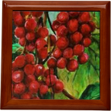 Red fruits, Paintings, Fine Art, Botanical,Nature, Acrylic,Canvas, By Marta Kuźniar