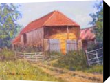 Red Hay Barn., Paintings, Realism, Landscape, Acrylic, By John William Richie