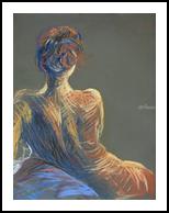 Red Head, Drawings / Sketch,Paintings,Pastel, Expressionism,Fine Art,Realism, Anatomy,Avant-Garde,Erotic,Figurative,Nudes,People, Painting,Pastel, By Oleg Tsank