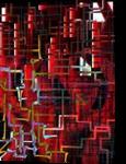 red installation, Digital Art / Computer Art, Modernism, Conceptual, Digital, By Nebojsa Strbac