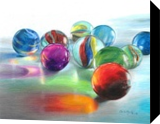 Red Marble Reflection, Drawings / Sketch,Paintings, Photorealism,Realism, Still Life, Pencil, By Carla Kurt