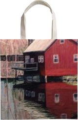 Red Mill Reflectins, Paintings, Impressionism,Realism, Landscape, Oil,Painting, By Richard John Nowak