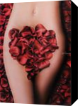 Red petals, Paintings, Fine Art,Photorealism,Realism, Anatomy,Botanical,Figurative,Floral,Nudes, Oil, By Ivan Pili