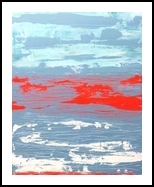 Red Sea, Paintings, Abstract, Seascape, Acrylic, By Lesley Anne Cornish