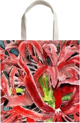 Red Spider Lily Flower, Decorative Arts,Drawings / Sketch,Illustration,Paintings,P aper Art,Poster,Printmaking, Fine Art,Impressionism,Modernism,Photorealism,Realism,Romanticism,Sensationalism, Botanical,Decorative,Environmental art,Floral,Nature,Still Life,Tropical, Ink,Painting,Watercolor, By Derek Duane McCrea
