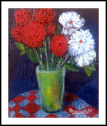Red white, Paintings, Expressionism, Still Life, Canvas, By ZAKIR AHMEDOV