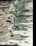 Reflected Grace, Paintings, Fine Art, Landscape, Watercolor, By E Gordon West