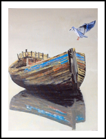 Reflections, Paintings, Impressionism, Seascape, Acrylic,Canvas,Wood, By broonzy williams